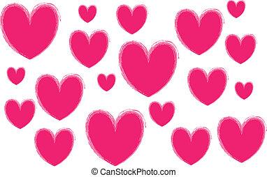 coração, -design, elemento