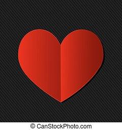 coração, dia, cartão, valentine
