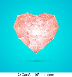 Coração, diamante, seu, desenho