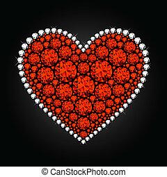 coração, diamante