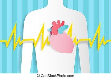 coração, dor, human