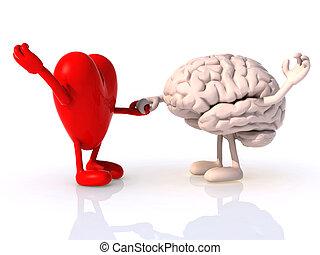coração, e, cérebro, que, dança