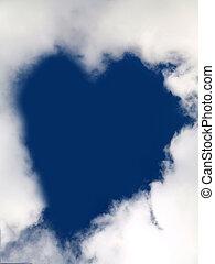 coração, em, a, céu