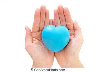 coração, em, a, mãos