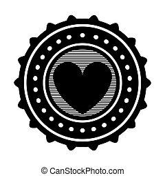 coração, emblema, ícone, imagem