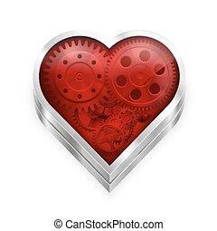 coração, engrenagens