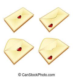 coração, envelope