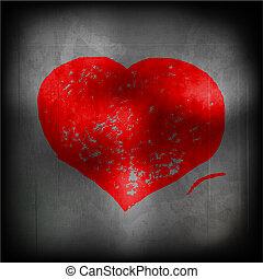 coração, -, eps, vermelho, 10