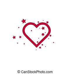 coração, estrelas, -, adicionar, favorites, ícone
