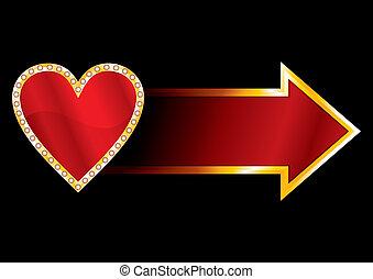 coração, etiqueta