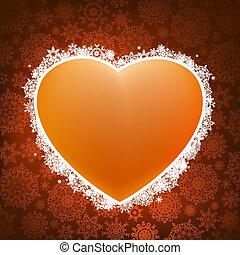 coração, experiência., applique, eps, 8