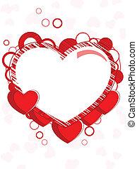 coração, feito, occasions., espaço, abstratos, valentines, seamless, quadro, forma, outro, fundo, cópia, dia, vermelho