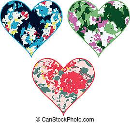 coração, flor, fantasia