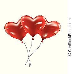 coração, folha, balões