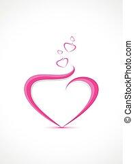 coração, forma abstrata, fundo