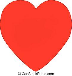 Coração, FORMA, vermelho