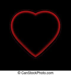 coração, fundo, computador gerou, fractal