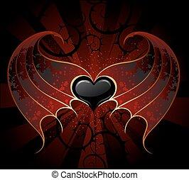 coração, gótico, vampiro