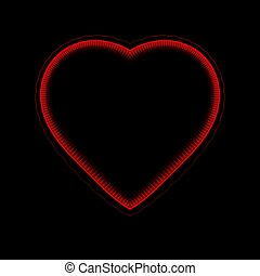 coração, gerado, computador, fractal, fundo