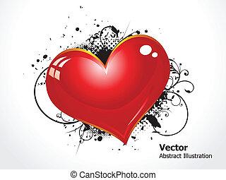 coração, grunge, abstratos