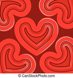 coração, grupo, shapes., valentine, fundo, dia