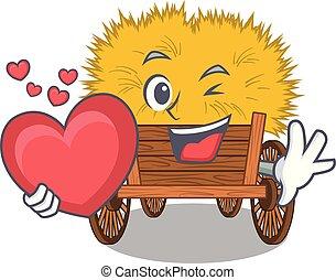 coração, hayride, caricatura, brinquedo, gaveta