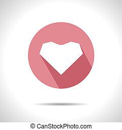 coração, icon., vetorial, eps10