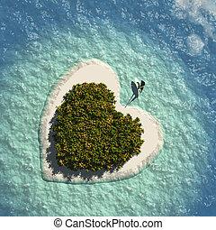 Coração, ilha