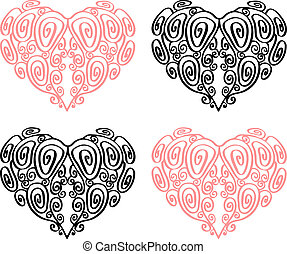 coração, illustration.