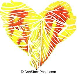 coração, ilustração, para, st., valentine, dia