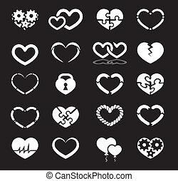 coração, jogo, ícone