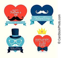 coração, jogo, pais, decoração, dia, cartão
