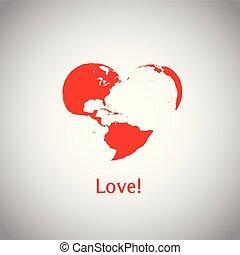 coração, -, love!, mundo