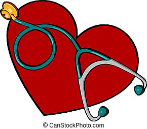 coração, médico, estetoscópio