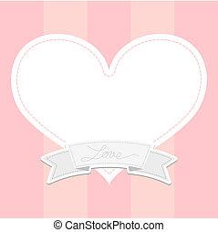 coração, mensagem, amor, tábua