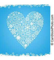 coração, neve