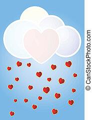 coração, nuvem