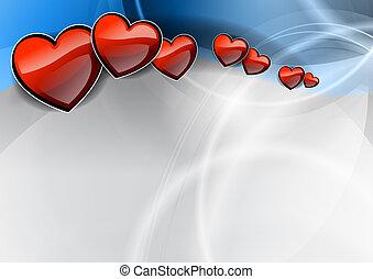 coração, onda