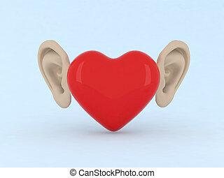 coração, orelhas