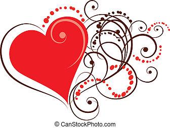 coração, ornamental