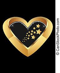coração, ouro