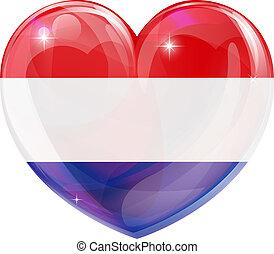 coração, países baixos, amor
