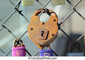 coração, padlock