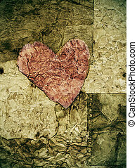 coração, papel, antigas