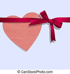 coração papel, fita