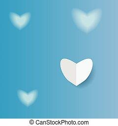 coração, papel, fundo