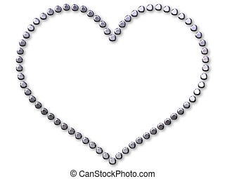 coração, prata