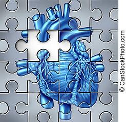 coração, problemas, human