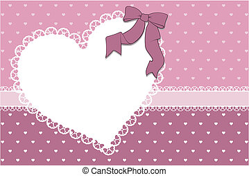coração, quadro, fundo, scrapbook