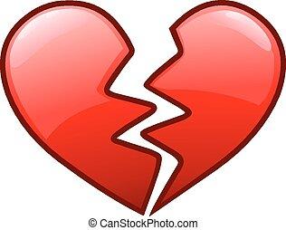 coração quebrado, ícone